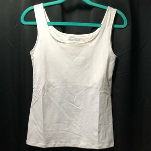 White House Black Market White Tank Top